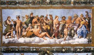 The Council of Gods by Raphael
