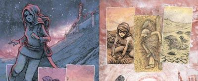 Some scenes of Evermore illustrated by Dan Reed via Obernewtyn.net