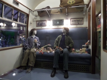 Harry and Ron on the Hogwarts Express taken on the Harry Potter Studio Tour